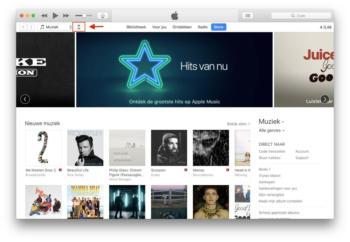 iPhone overzetten iTunes