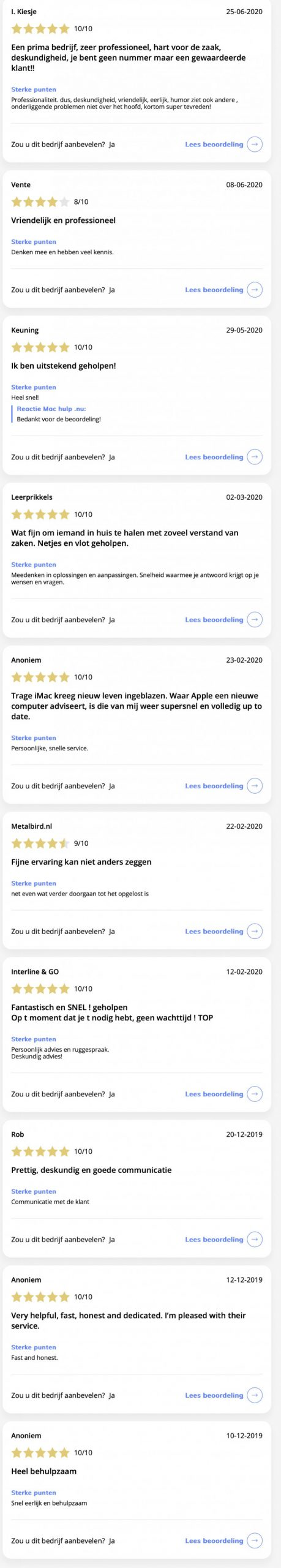 Mac hulp .nu Reviews en ervaringen Mac hulp .nu - feedbackcompany.com 2